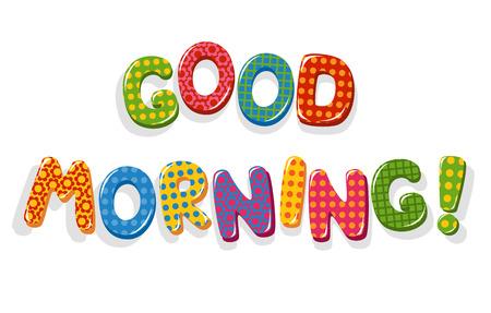 Good Morning brieven Stock Illustratie