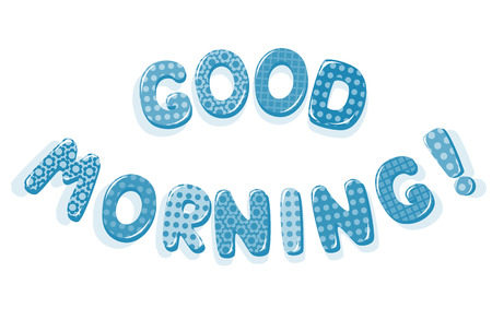 Good Morning letters Vector