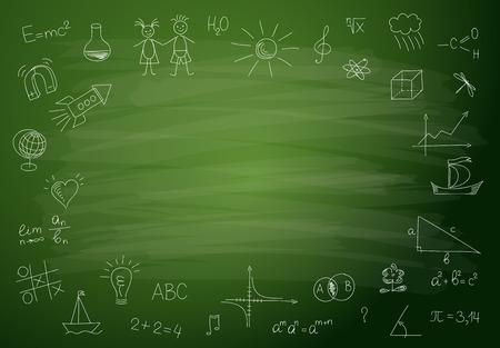 chalkboard: Retour à l'école de fond
