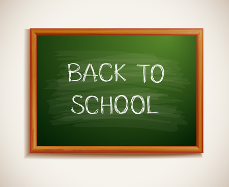 cool kids: Back to school written on blackboard