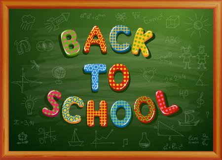 Zurück zu Schule auf Tafel geschrieben Standard-Bild - 30028663