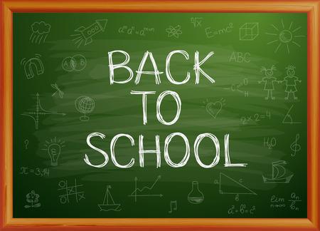 Zurück zu Schule auf Tafel geschrieben Standard-Bild - 30028664