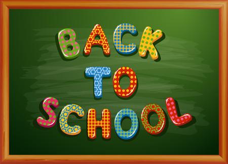 Zurück zu Schule auf Tafel geschrieben Standard-Bild - 30028665