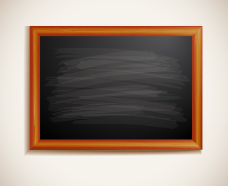 demonstrate: Blackboard in a wooden frame