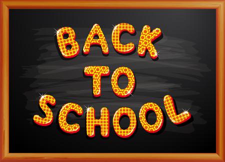 Zurück zu Schule auf Tafel geschrieben Standard-Bild - 30445622