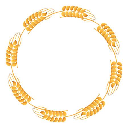 caryopsis: Wreath of wheat ears