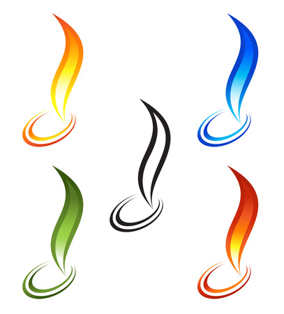 inferno: Set of fire icons
