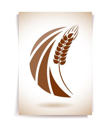 Espigas de trigo icono Ilustración de vector