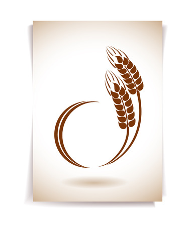 caryopsis: Wheat ears icon Illustration
