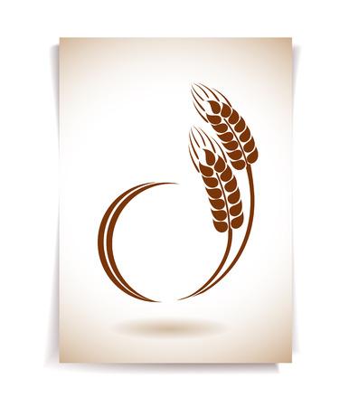 wheat bread: Wheat ears icon Illustration