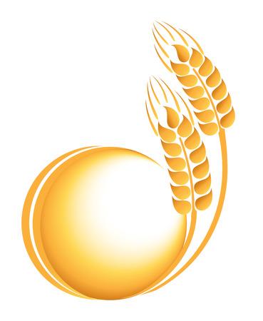 Wheat ears icon  イラスト・ベクター素材