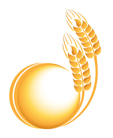 Wheat ears icon 矢量图像