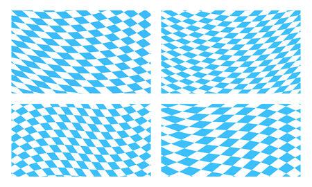 Set of Bavarian flag backgrounds Vector