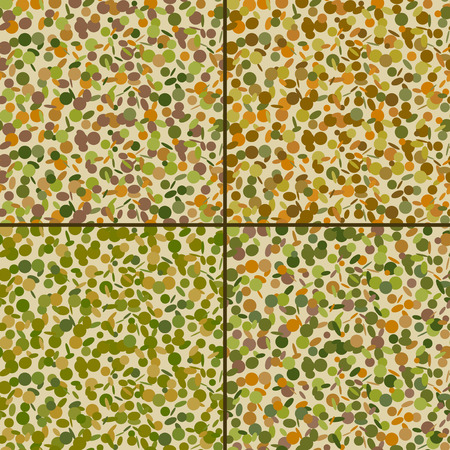 fatigues: Set of seamless confetti pattern in camouflage colors