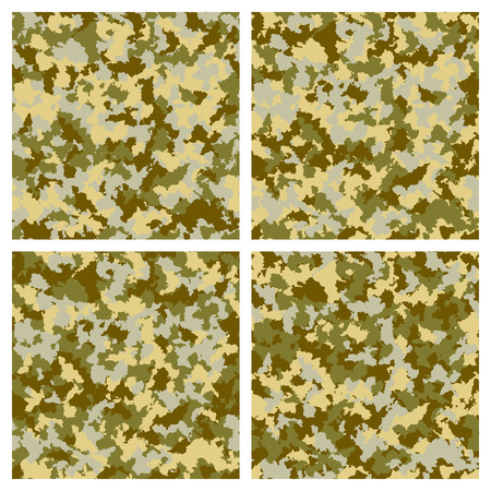 fatigues: Set of seamless camouflage pattern