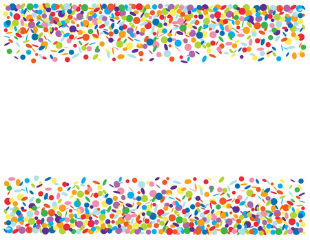 Abstract confetti background Vector