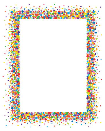 Confetti frame  イラスト・ベクター素材
