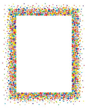 Confetti frame Vectores