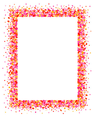 feasting: Confetti frame in pink Illustration