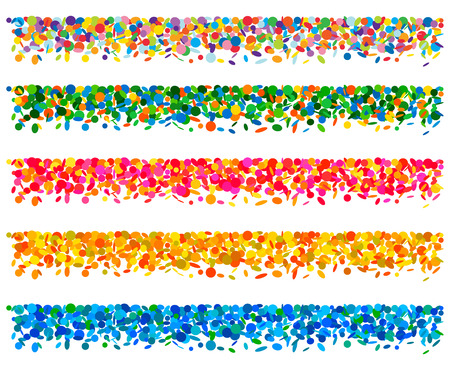 Set van confetti planken