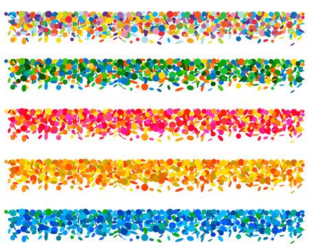 Set of confetti boards