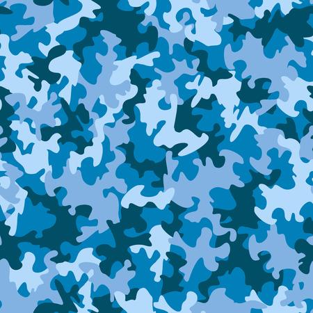 azul marino: Patrón de camuflaje sin fisuras Vectores