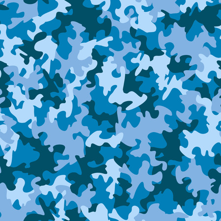 navy blue background: Seamless camouflage pattern