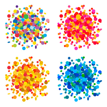 confetti background: Set of colorful confetti backgrounds Illustration