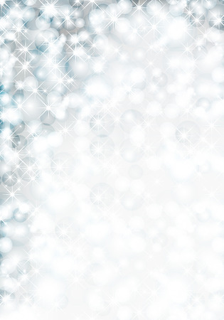 xm: Christmas background with lights and snowflake