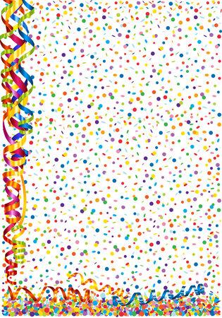 serpentine: Background with confetti and serpentine Illustration