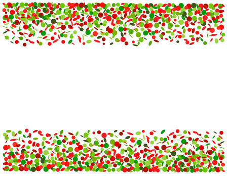 feasting: Background with confetti in red and green