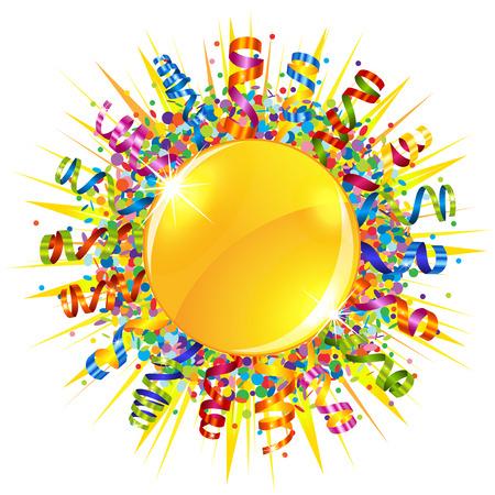 serpentine: Confetti and serpentine sun