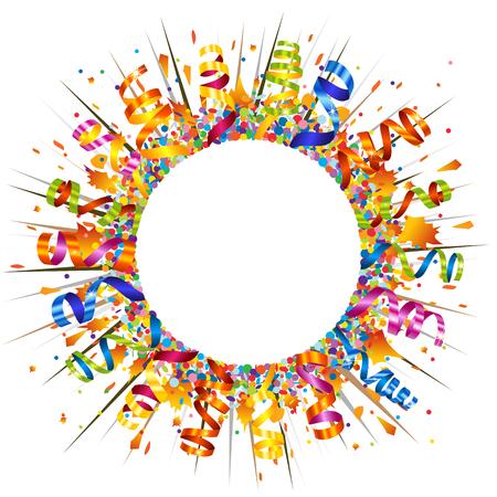 Confetti and serpentine explosion Illustration