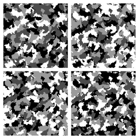 Set of seamless camouflage pattern Stok Fotoğraf - 35804657