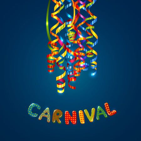 Carnival card with serpentine Stok Fotoğraf - 35801855