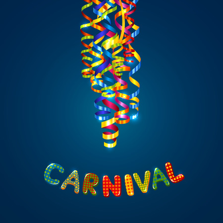 Carnival card with serpentine Stok Fotoğraf - 35931109
