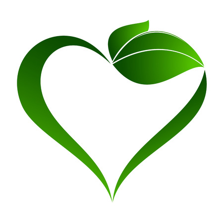 Abstract plant icon with heart element Stok Fotoğraf - 36635399