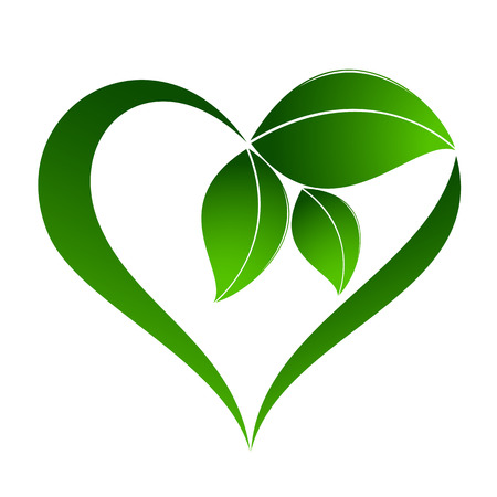 Abstract plant icon with heart element Stok Fotoğraf - 36635402