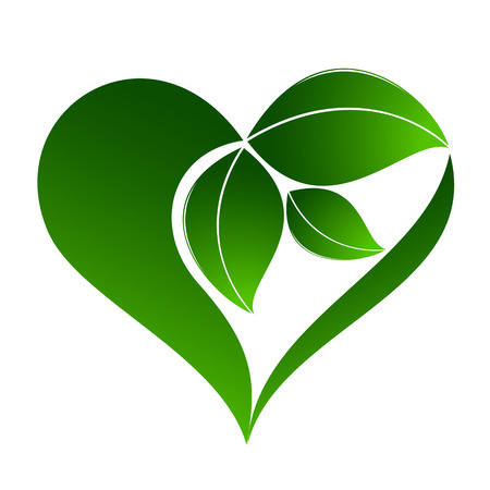 Abstract plant icon with heart element Stok Fotoğraf - 36821355