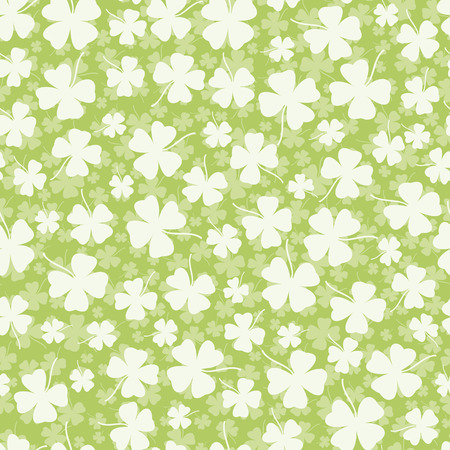 four leafed clover: Seamless clover background Illustration