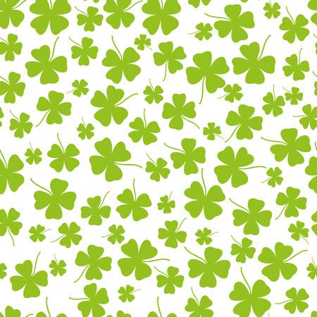 Seamless clover background Illustration