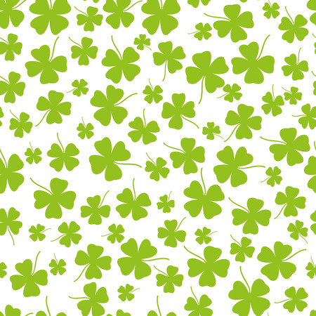leafed: Seamless clover background Illustration