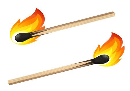 unused: Match isolated on white background Illustration
