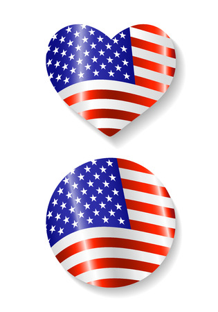 Set of Country USA flag icons Stok Fotoğraf - 39369448