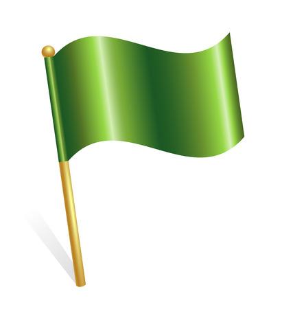 Green flag icon Illustration