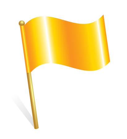 Gele vlag pictogram Stock Illustratie