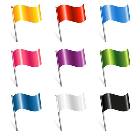 Set of colorful Flags Vector