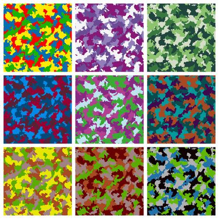 Set of seamless camouflage pattern Stok Fotoğraf - 41532611