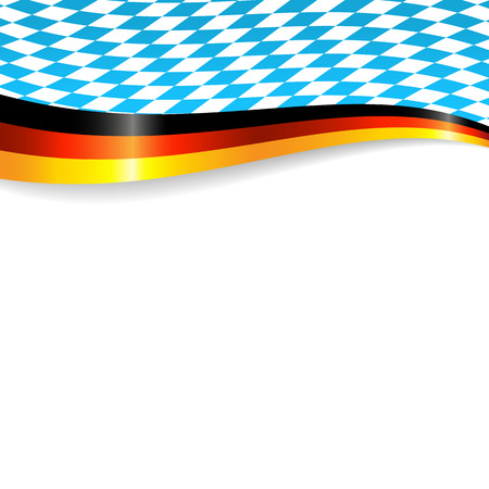 Banner in german and bavarian colors Stok Fotoğraf - 41781107