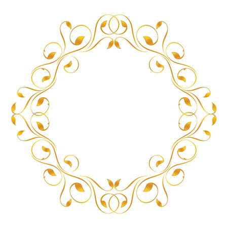 ovalo: Marco de la vendimia en oro. Simétrica hacia adentro